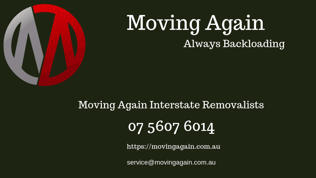 Moivng Again interstate removalists